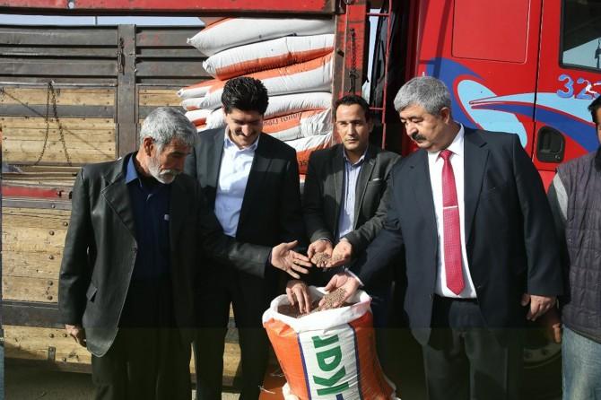 Gaziantep'te çiftçilere mercimek tohumu desteği