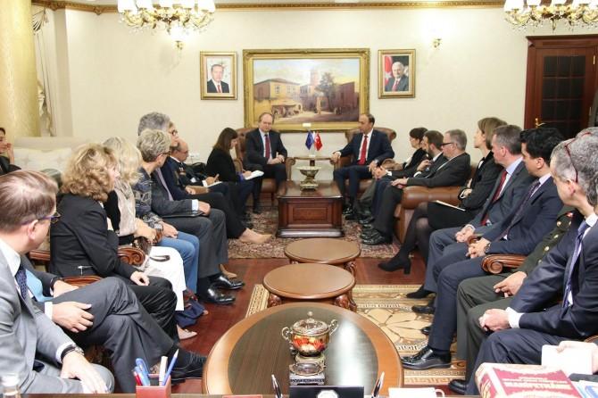 AB Delegasyonu Başkanı Christian Berger ve bereberindeki heyet Şanlıurfa'da