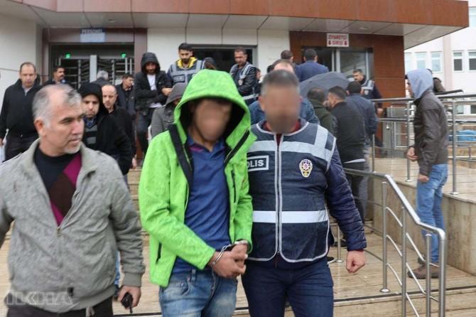 Gaziantep'te 7 gasp şüphelisi tutuklandı
