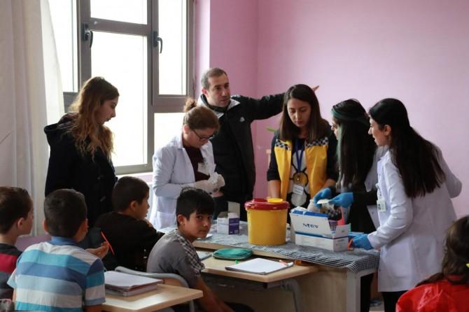 Mardin'de öğrencilere sağlık taraması