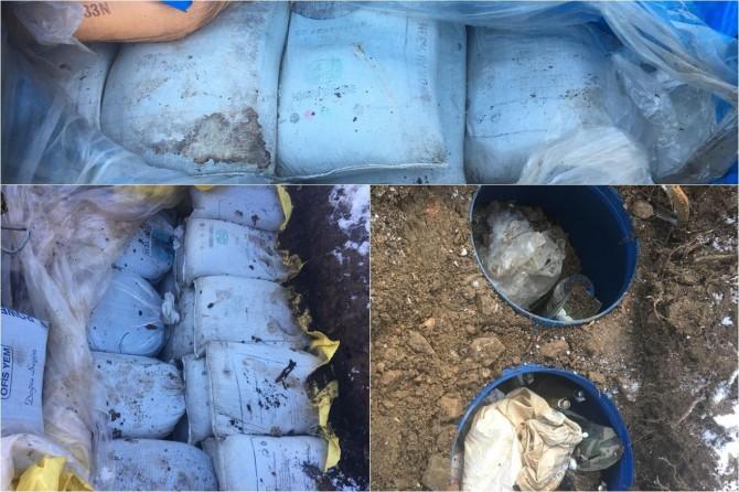 Diyarbakır Kulp'ta 2 ton 800 kilo patlayıcı ele geçirildi