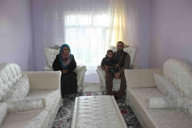 Bismil'deki mağdur aileye yardım eli uzatıldı