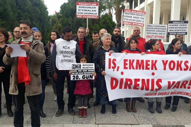 İzmir'de 220 belediye çalışanı işten çıkarıldı