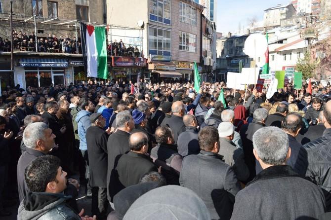 Bitlisliler Kudüs için meydanlara indi