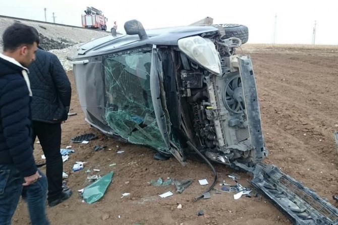 Silopi'de kontrolden çıkan araç şarampole yuvarlandı: 1 yaralı