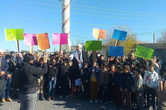 Köy halkından Kudüs'e tam destek