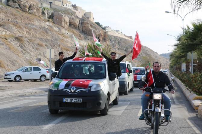 Şanlıurfa'da Kudüs için araç konvoyu oluşturuldu