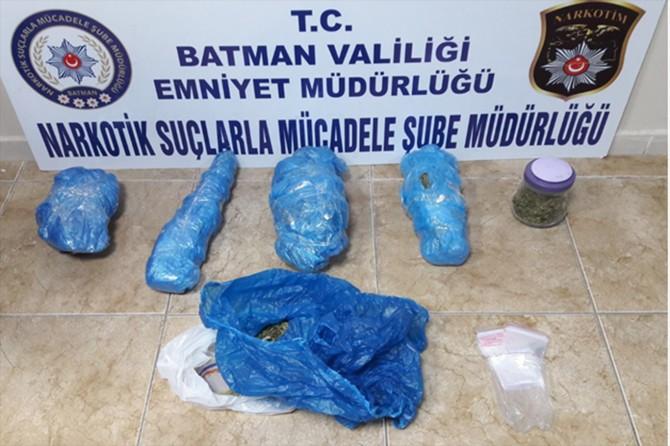 Batman'da uyuşturucudan 6 kişi gözaltına alındı
