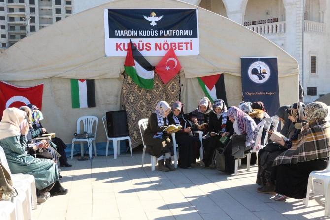 """Mardin'de """"Kudüs"""" nöbeti başladı"""