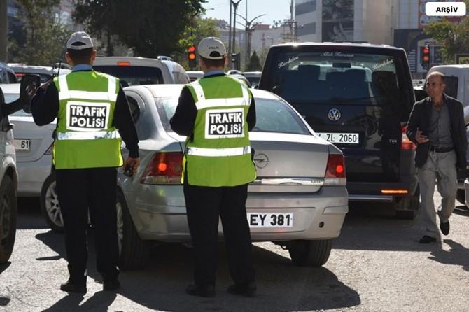 154 sürücüye yaklaşık 65 bin TL para cezası kesildi