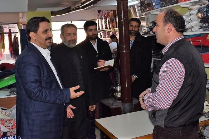 HÜDA PAR Malatya İl Başkanlığından esnaf ziyareti