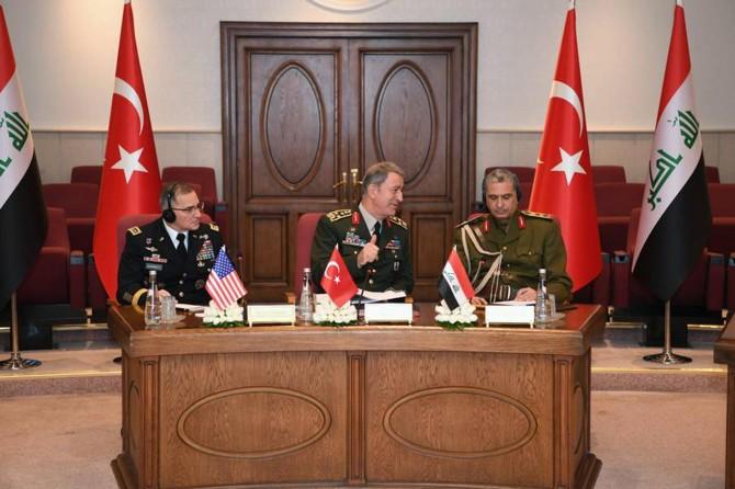 Genelkurmay Başkanı Akar' ABD'likomutanlarve Irak'lı mevkidaşıyla üçlü zirve yaptı