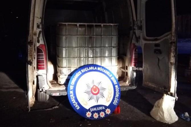 Şanlıurfa'da 9 bin litre gümrük kaçağı akaryakıt ele geçirildi