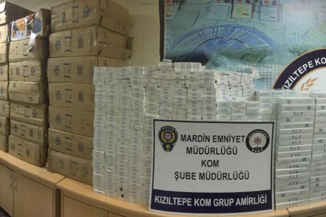Mardin'de yüklü miktarda kaçak sigara ele geçirildi