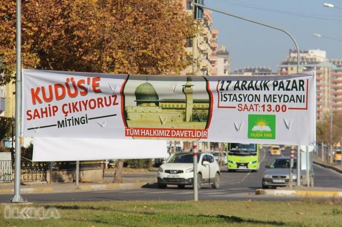 """Mîtînga """"Em li Qudsê xwedî derdikevin"""" li Diyarbekirê îro tê tertîpkirin"""