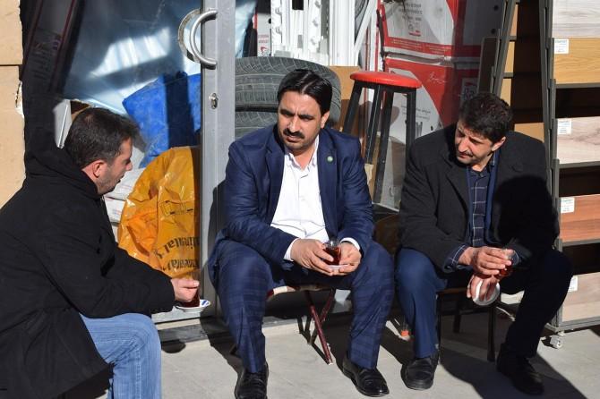 HÜDA PAR Malatya İl Başkanlığı esnaf ziyareti yaptı