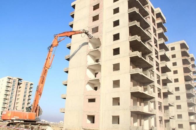 Kırklar Dağı'ndaki konut yıkımı en kısa zamanda bitirilmesi hedefleniyor