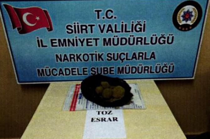 Siirt'te torbacı ve uyuşturucu satıcılarına operasyon
