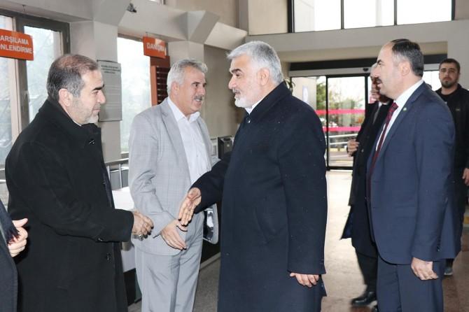 HÜDA PAR Genel Başkanı Yapıcıoğlu'ndan hasta ziyareti