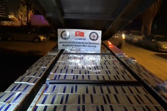 13 bin 500 paket gümrük kaçağı sigara ele geçirildi