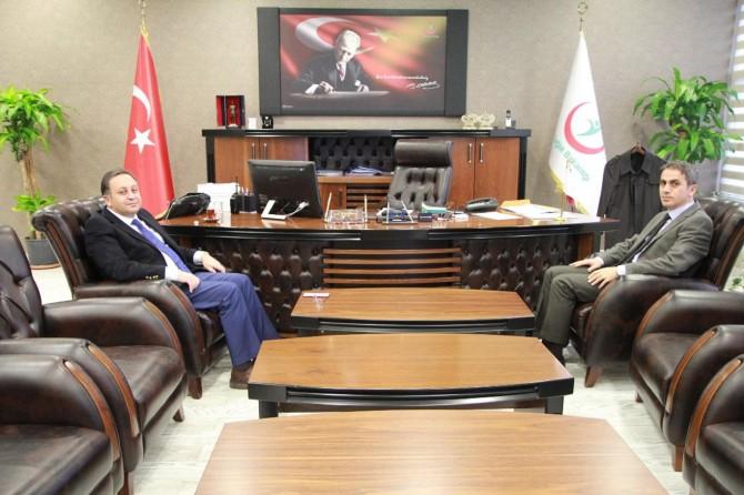 Van Cumhuriyet Başsavcısı İbrahim Keskin'den İl Sağlık Müdürü Nevzat Akdoğan'a ziyaret