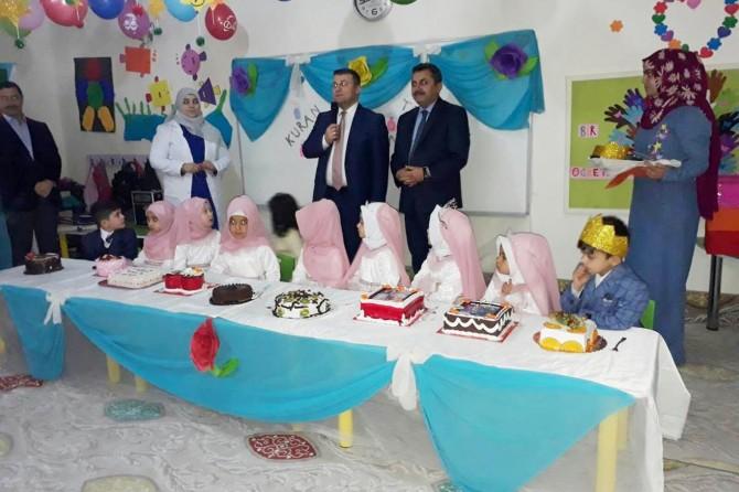 Viranşehir'de 4-6 yaş Kur'an kursu öğrencileri karnelerini aldı