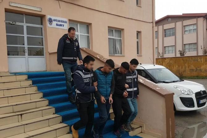 Siirt'te hırsızlık yapan 3 kişi tutuklandı