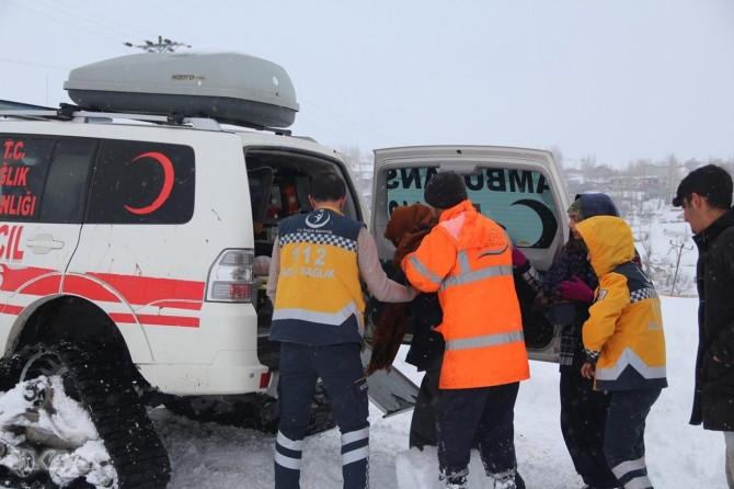 Bingöl Karlıova'da kalp hastasına 4 saat sonra ulaşıldı