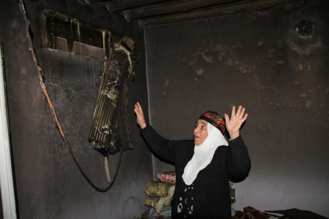 Evi yanan Leyla Nine'den yardım talebi