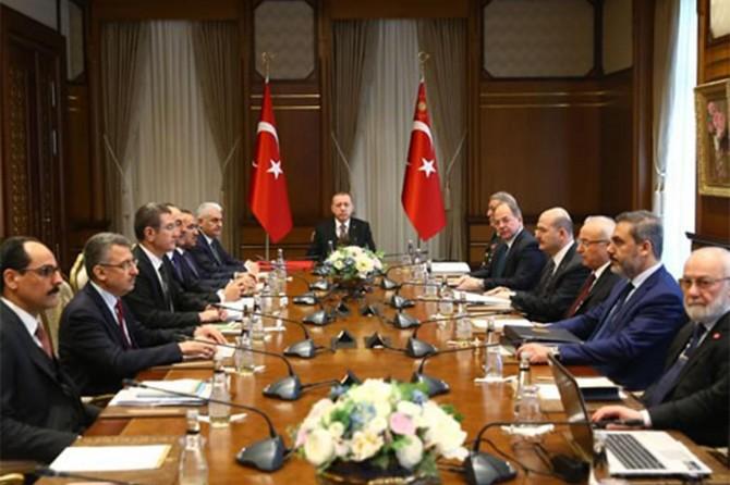 Beştepe'de Güvenlik Değerlendirme Toplantısı