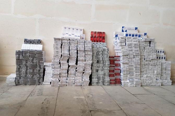 Batman Hasankeyf'te 32 bin paket kaçak sigara ele geçirildi