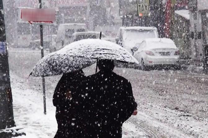 Hakkari için yoğun kar Mersin için sağanak yağış uyarısı