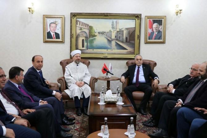 Bakan Fakıbaba ve Diyanet İşleri Başkanı Erbaş Şanlıurfa'da