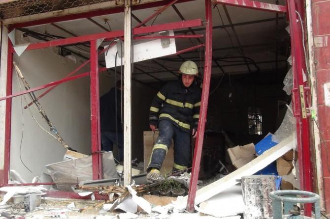 İş yerinde şiddetli patlama: 2 yaralı