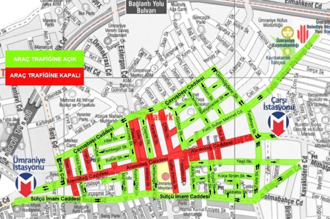 İstanbul'da Ümraniye Alemdağ Caddesi yayalaştırılıyor