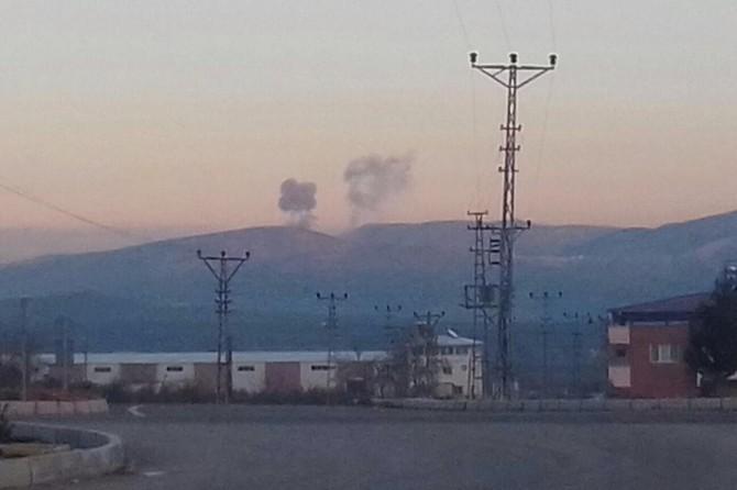 PKK hedefleri havadan bombalandı