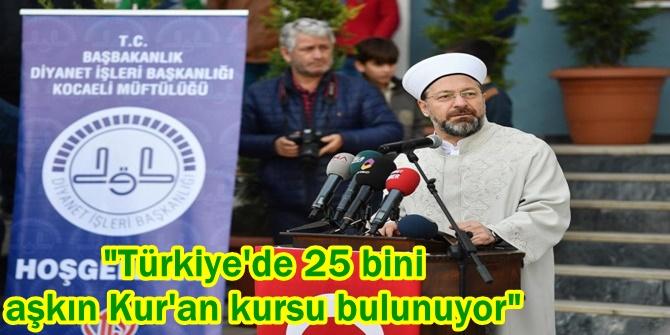 """""""Türkiye'de 25 bini aşkın Kur'an kursu bulunuyor"""""""