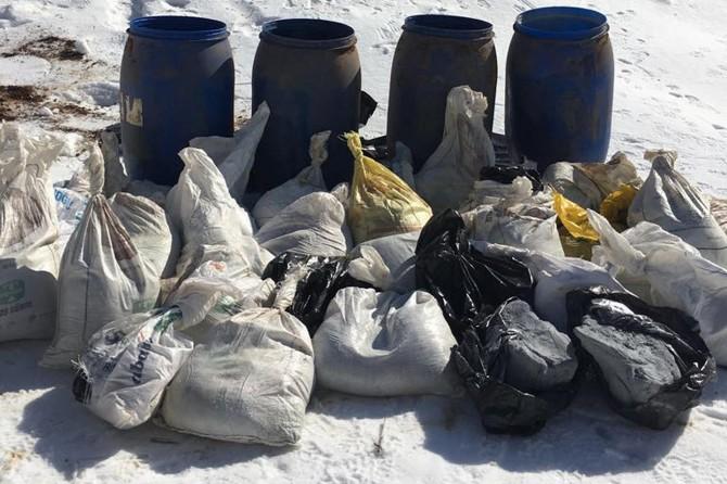 Bingöl'de 600 kilogram patlayıcı madde ele geçirildi
