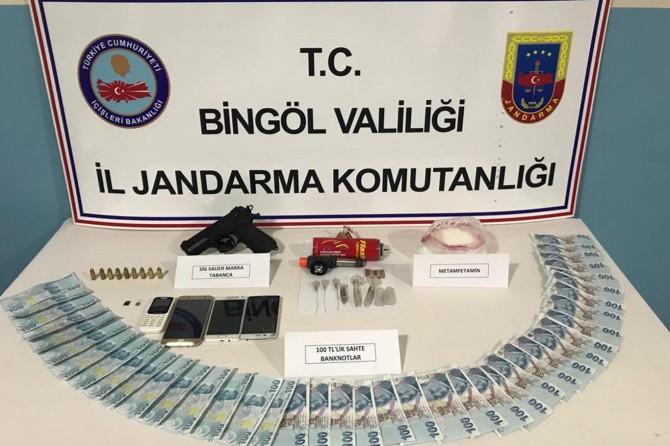 Bingöl'de uyuşturucu ve sahte para ele geçirildi