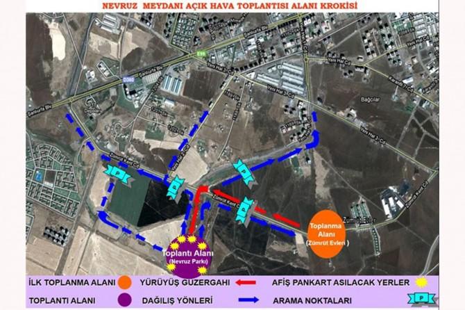 Diyarbakır'da gösteri ve yürüyüş alanları yeniden belirlendi