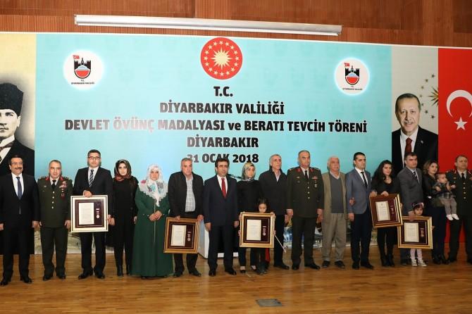 """Diyarbakır'da """"Devlet Övünç Madalyası Tevcih Töreni"""" düzenlendi"""