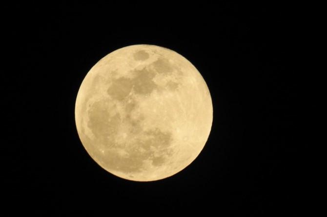 Süper ay gözlemi yapıldı