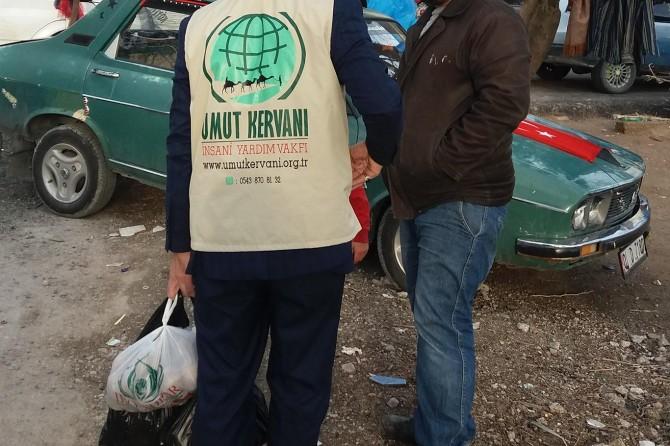 Umut Kervanı Malatya'da yardımlarını sürdürüyor