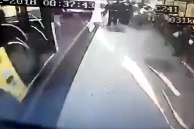 Footage shows the accident of bus kills 3
