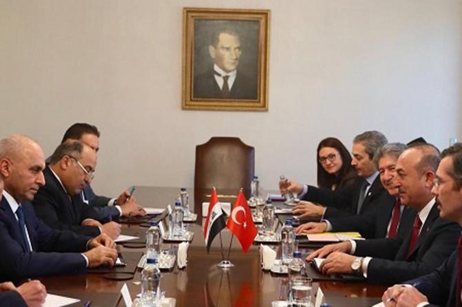 Mevlüt Çavuşoğlu Irak Planlama Bakanı Cumeyli'yle görüştü