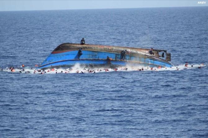 Göçmen teknesi battı: 90 ölü