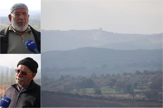 Darmık Dağı eteğindeki köylüler İLKHA'ya konuştu