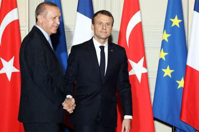 Erdoğan Fransa Cumhurbaşkanı Emmanuel Macron ile görüştü