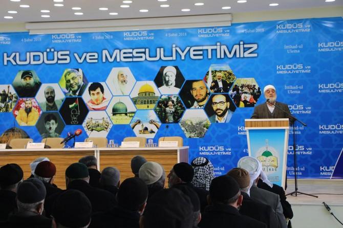 Toplantımız Kudüs'ün özgürlüğü içindir