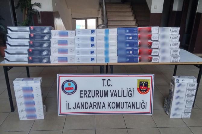 Erzurum'da gümrük kaçağı sigara ele geçirildi
